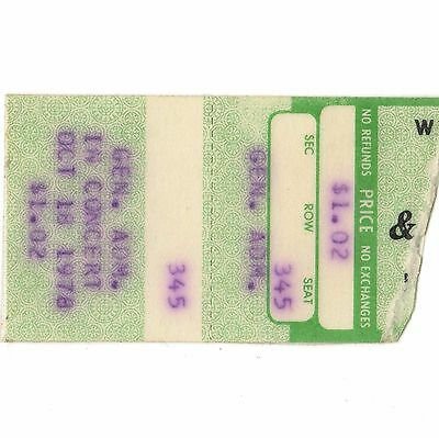 UFO & FAITH NO MORE Concert Ticket Stub LOUISVILLE 1978 STRANGERS IN THE NIGHT