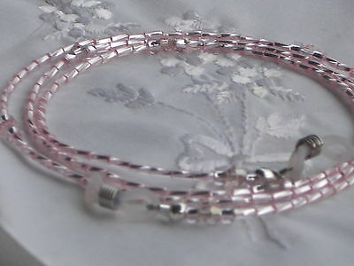 "Sunglasses/Eyeglass Chain~Metallic Pink Twist~Crystal Accents~28""Buy 3 SHIP FREE"