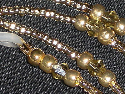 "Eyeglass Chain Handmade Champagne Gold~Neck Cord~NEW~28"" Buy 3 SHIP FREE"