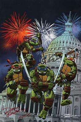 Dario Brizuela SIGNED Comic Art Print ~ Teenage Mutant Ninja Turtles