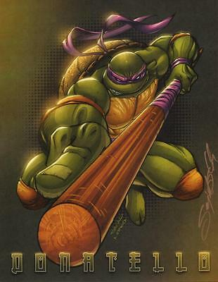 Sajad Shah SIGNED Teenage Mutant Ninja Turtles Comic Art Print ~ Donatello
