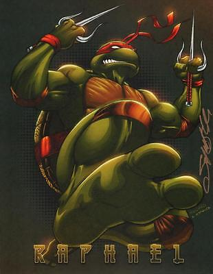 Sajad Shah SIGNED Teenage Mutant Ninja Turtles Comic Art Print ~ Raphael