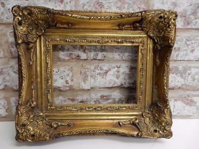 """VINTAGE OLD picture frame GESSO fits a 7 inch X 5 """" painting"""