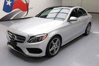 2015 Mercedes-Benz C-Class Base Sedan 4-Door 2015 MERCEDES-BENZ C300 PREMIUM SPORT PANO ROOF NAV 30K #051591 Texas Direct