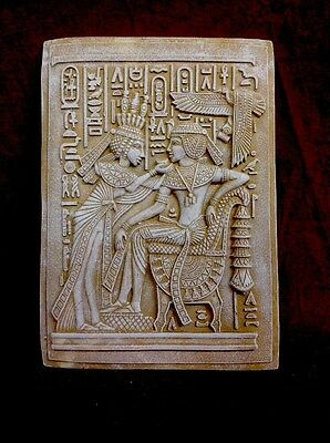 Overstock Egyptian Wall Plaque King Tut And Wife