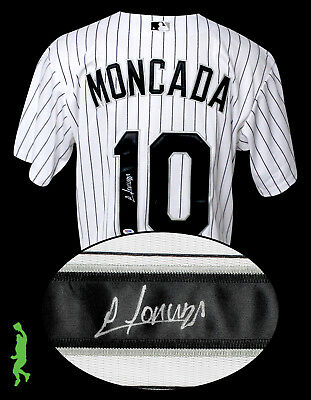 Yoan Moncada Autographed Signed Chicago White Sox Baseball Jersey Psa/dna Coa