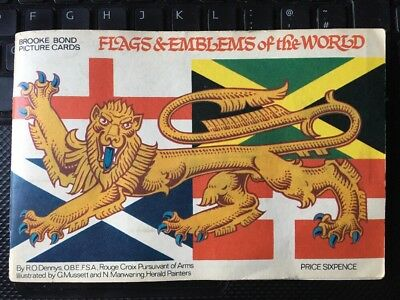 Flags & Emblems Of The World Full Set Cards In Album From Brooke Bond Tea