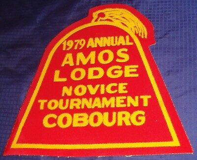 BR718 Vtg Cobourg ON Shriners 1979 Annual Amos Lodge Tournament Crest / Patch