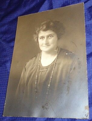 RP1661 Vtg Cabinet Photo Standing Young Woman