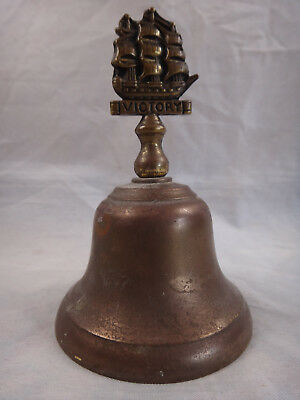 Vintage ~ HMS Victory ~ Petite Solid Brass Bell ~ Made in England ~ Nautical
