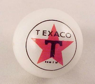 Texaco Star Gas Marble White Glass Gasoline Advertising Logo Collectible