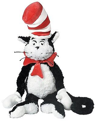 "Dr Seuss Plush The Cat in the Hat 27"" Soft Plush Stuff Toy"