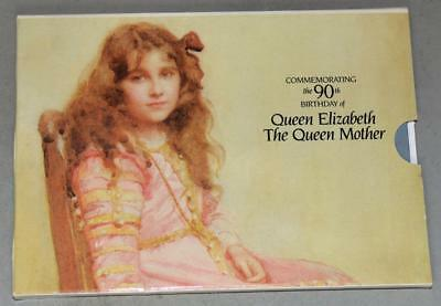 Great Britain 1990 Uncirculated Crown (£ 5) - Queen Mother 90th Birthday