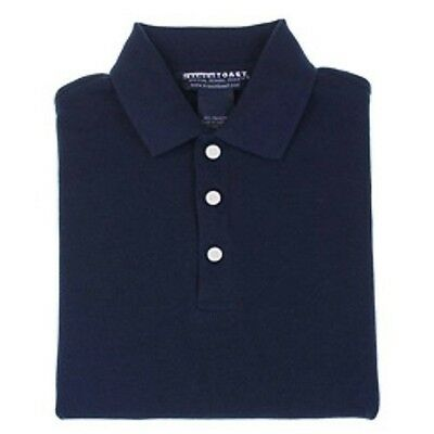 School Uniform Polo Navy Blue Short Sleeve French Toast Collared Shirt 4 New