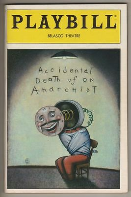 """Accidental Death of an Anarchist""  Playbill  1984  Patti LuPone, Jonathan Pryce"