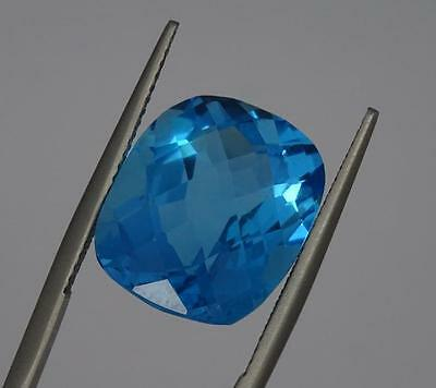 ***Beautiful Natural 15.61ct Blue Topaz Cushion Cut Gemstone***