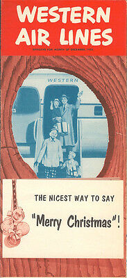 Western Air Lines system timetable 12/52 [6023]