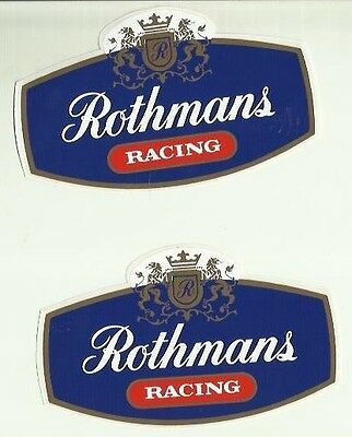 Rothmans Opel Lancia Ford Vintage Sticker Decal x 2 Self Adhesive 12 x 7cm