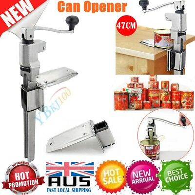New Large Commercial Can Opener Heavy Duty Counter Bench Top Cast Steel Table AU