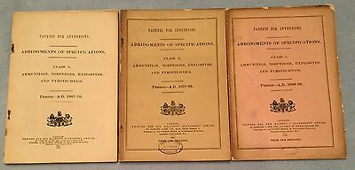 Patents For Ammunition Torpedoes Explosives Pyrotechnics 1867-92 original books