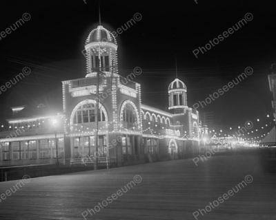 AC NJ Steel Pier In Night Lights 8 by 10 Reprint Photograph
