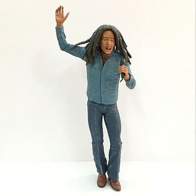 """7.0"""" Bob Marley Music Legends Jamaica Singer with Microphone figure Boy Toy Gift"""