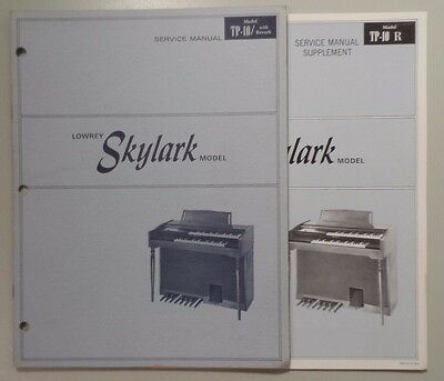 Original Lowrey Service Manual & Supplement TP-10 Skylark - Schematics/Parts