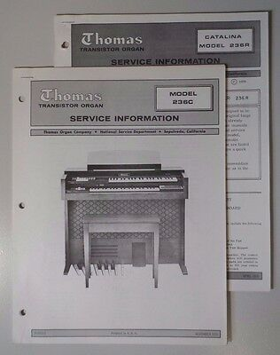 Original Thomas Organ Service Information Catalina 236R/236C