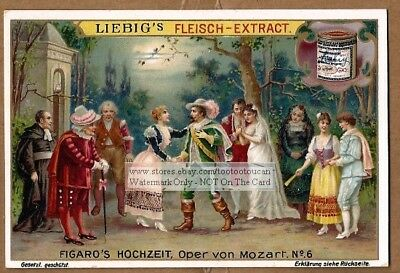 Marriage Of Figaro Mozart Opera Music History 6 c1905 Trade Ad Cards