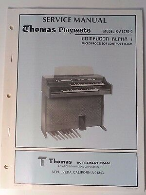"Original Thomas Organ Service Manual ""Playmate"" R-A 1420-0"