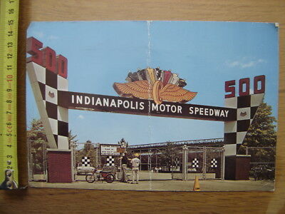 CP Postcards Carte Postale AUTOMOBILE MOTOCYCLETTE Indianapolis Motor Speedway