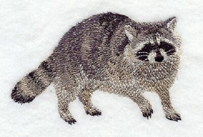 Large Embroidered Zippered Tote - Raccoon D1498