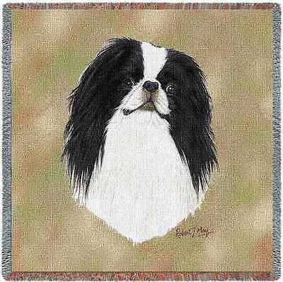 Lap Square Blanket - Japanese Chin by Robert May 3380