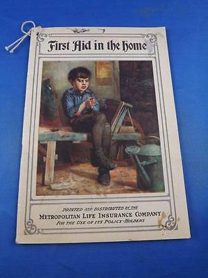 Booklet First Aid In The Home 1919 Metropolitan Life Insurance Canada Advertise