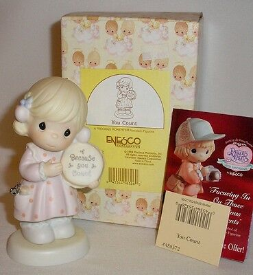 Precious Moments - You Count - Sewing Figurine - Mint In Box 488372