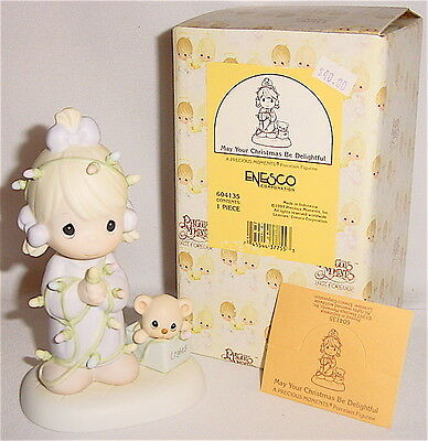 Precious Moments - May Your Christmas Be Delightful Figurine - Mint In Box