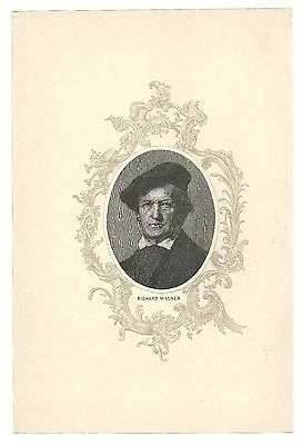 Famous Composer Print   Richard Wagner  German Germany