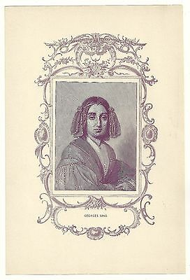 Famous Literature Print   Georges Sand   French Author  France