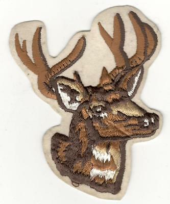 Hunting Patch    Deer Head  Iron On  5""