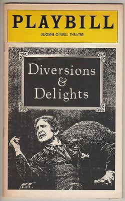 """Vincent Price  """"Diversions & Delights""""  Playbill  Broadway  1978  Oscar Wilde"""