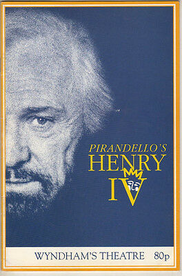 "Richard Harris, Isla Blair, Ian Hogg ""Henry IV""  Pirandello Playbill London 1990"