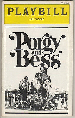 """""""Porgy and Bess"""" Playbill 1976 Broadway Clamma Dale, Robert Mosley"""