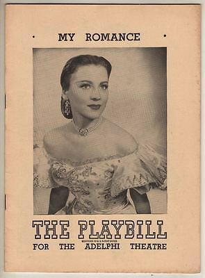"Anne Jeffreys  ""My Romance""  Broadway   Playbill 1948  Sigmund Romberg"