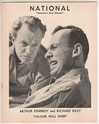 """Richard Kiley """"Time Limit!"""" (""""Valour Will Weep"""")  Tryout Playbill 1955   HZ"""