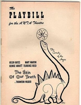 """Mary Martin """"The Skin of Our Teeth"""" FLOP 1955 Playbill Helen Hayes George Abbott"""