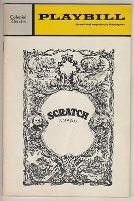 """Archibald MacLeish  """"Scratch""""  Playbill TRYOUT Boston 1971  Patrick Magee  FLOP"""
