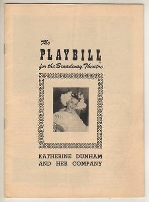 """""""Katherine Dunham and Her Company""""  Playbill  Broadway  1950"""