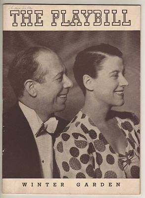 """Bert Lahr & Beatrice Lillie  """"The Show Is On""""  Playbill  1937  Vincente Minnelli"""