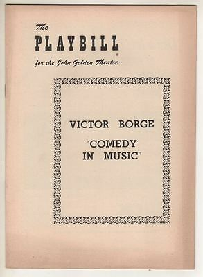 """Victor Borge  """"Comedy In Music""""  1953   Playbill   Broadway"""