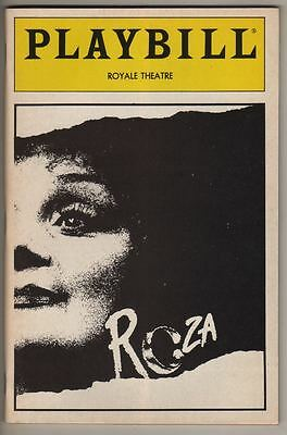 "Georgia Brown ""Roza""  FLOP 1987 OPENING NIGHT  Playbill Gilbert Becaud"